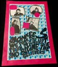 The Monkees 2 Sided Poster Konst Sweden Last Train To Clarksville
