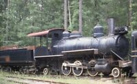 Unidentified Railroad Small 2-6-2 Steam Locomotive Original 1987 Photo Slide