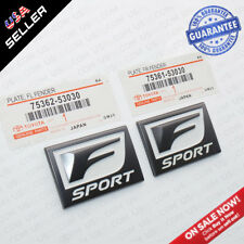 2x F-Sport Logo ABS Badge Side Fender Marker Adhesive Nameplate Emblem OEM Size