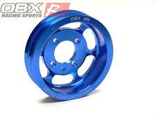 OBX Blue Aluminum Crank Pulley Fit 1990-1999 Eclipse Talon GST GSX 4G63