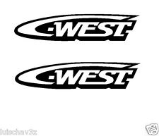 (2) 7 inch C West Car Racing Window Decal Sticker