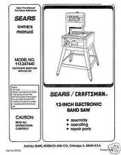 "Craftsman  12 "" Operators Manual 113.247440"