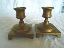 Solid brass candlestick, candle holders England