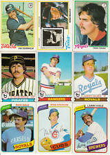 Complete Your 1978, 1979, 1980, 1981 Topps Baseball Set - Pick 30 Cards
