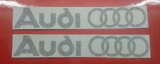 Audi - Car Vinyl Stickers  X 2 - Rings Logo -  Car Graphics - Decals