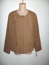 JM Collection Brown Jacket Blazer Size 12p New NWT