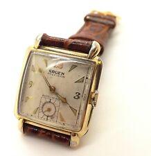 1950's Gruen Precision Bumper Automatic 17J Clipper Men's Wrist Watch ~Runs~