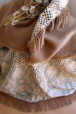 wendeplaid lana cuadros manta de lana Colcha 100% Lana + Algodón Satén 155x200