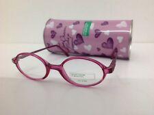 BENETTON Mod 292 occhiale vista Bambina Rosa largo 11,3cm plastica rotondo