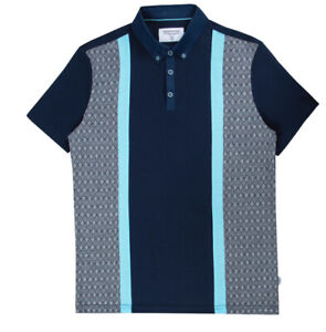 New Mens Mish Mash Visby Navy Polo Shirt Size S £19.99 orbest offer RRP £45