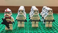 Lego Star Wars Figur x 10 Stormtrooper Armee Shock Trooper Clone 7667 7655 7659