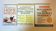 Lot 3 Joe and Terry Graedon books_People's Pharmacy, Home Herbal Remedies