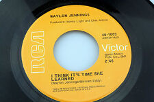 Waylon Jennings: I Think It's Time She Learned / Cedartown, GA  [Unplayed Copy]