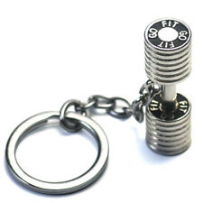 Large Dumbbell Stainless Steel Keychain Sports Fitness Personalized Key Chains