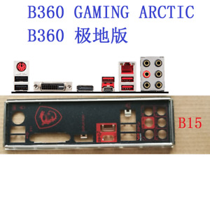 IO I/O SHIELD FOR MSI B360 GAMING ARCTIC B360 GAMING PLUS B360-A PRO