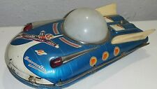 VINTAGE UNIVERSE CAR TIN TOY SPACE SHIP VEHICLE BATT. OPERATED CHINA 446 ME 089