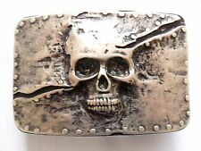Gürtelschließe Gürtelschnalle - Skull - Totenkopf - massiv gearbeitet