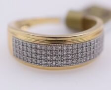 10k Yellow & White Gold Diamonds  Pave Setting Ring .30ctw