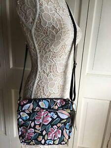NWT $79 Kipling Sebastian Striking Leaves Crossbody Bag