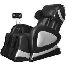 vidaXL Elektrischer Massagesessel Ruhesessel mit Super Screen Schwarz Kunstleder