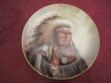 STRENGTH OF THE SIOUX - PERILLO collector plate Native American Indian