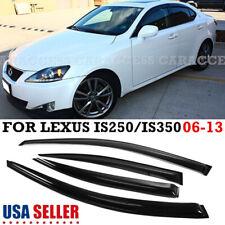 For 06-13 Lexus Is250 Is350 Jdm Smoke Sun/Rain Window Visor W/ Blk Trim (Fits: Lexus)