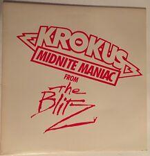 KROKUS- Midnite Maniac From The Blitz Lp VERY RARE MINT PROMO VINYL ADP 9249