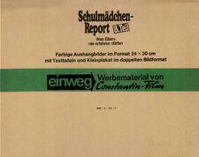 Schulmädchen-Report 8. Teil ORIGINAL Umschlag Puppa Armbruster / M. Widman