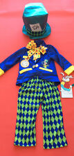 Disney Mad Hatter Costume Dress Up Book Day Outfit Alice in Wonderland age 5/6 y