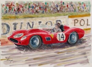 Artimotor - acrílico 31x23 / 1959 Phil Hill-Gendebien (Ferrari 250TR) Le Mans