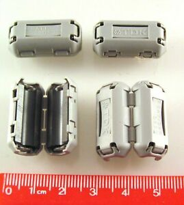 TDK ZCAT1325-0530 Ferrite Filter Clip On 5mm Cable 4 Pieces OM0989