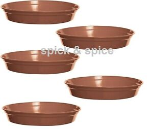 """Round Small, Large Plastic Plant Pot  Water Tray Base Saucer for 3"""" 4"""" 5"""" 6"""""""