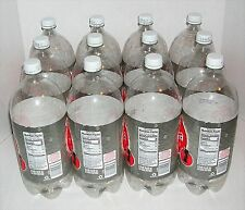 12 Empty 2 Liter Clear Plastic Bottles w/ Caps Art Crafting Supplies Garden Use