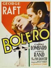 BOLERO Movie POSTER 27x40 B George Raft Carole Lombard Sally Rand Frances Drake