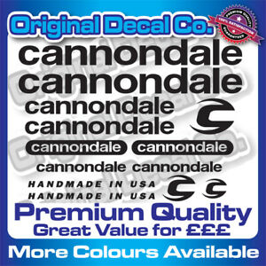 Premium Quality New Cannondale Bike Stickers Decals mountain bike frame forks