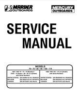 Mariner Mercury Service Manual 70 75 80 90 100 115  1987 - 1993 Outboard Motor