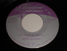 Jimmy Burton: You Done Me Wrong / The Room Next To Mine 45 - Country