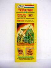 Gi Joe Triple Win Game Vintage Scratch Off w/Sticker Bivouac 1985