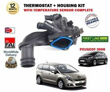FOR PEUGEOT 3008 + 5008 1.6 16v 2009--> NEW THERMOSTAT + HOUSING + SENSOR KIT