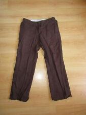 Pantalon en lin Dolce & Gabbana Marron Taille 40 à - 67%