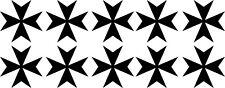 10x Malteserkreuz Maltese Cross 33 Aufkleber