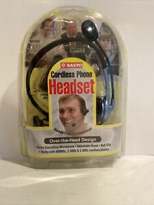Sanyo Black cordless phone headset (over The Head) New Sealed Telecommunication
