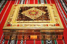 Holz Schmuckkasten schatulle  mit Perlmutt  Kunsthandwerk Damaskunst K 2-2-43
