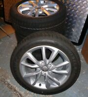 AUDI TT 8S ALLOY WHEELS 8S0071497 WITH DUNLOP WINTER SPORT TYRES 225 50 R17 98H