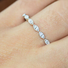 Women's Diamond Round Cut Half Eternity Wedding Band Anniversary Ring