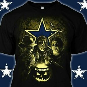 Dallas Cowboys T-shirt NFL Sport Champs Funny Black  Cotton Tee Gift Halloween