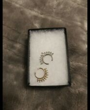 One Gold One Silver Fake septum piercing jewelry,