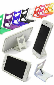 iPhone 6 Silver Holder Support: WHITE iClip Folding Travel Desk Display Stand