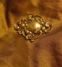 OLD SILVER Victorian engraveable Romantic Pendant 925- NZ Deceased Estate