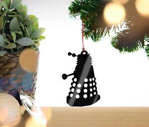 Dr Who Dalek Personalised Christmas Decoration, Hanging Tree Decoration